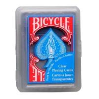 Пластиковые карты Bicycle Clear Regular Index Blue