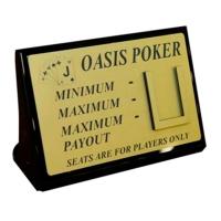 Табличка для игры в покер
